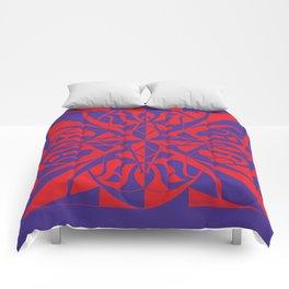Think Mandala - Purple Red Comforters