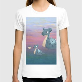Swimming with Lapras. T-shirt