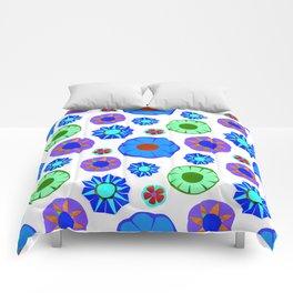 Flower Pattern-Blue Comforters