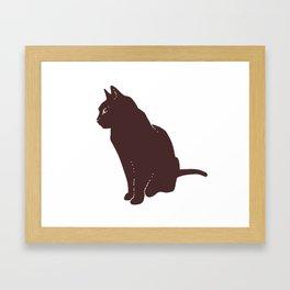 Brownies The Cat Framed Art Print
