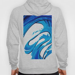 Pure Water 315 - Blue Abstract Art By Sharon Cummings Hoody