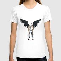 castiel T-shirts featuring Castiel by Rebecca McGoran