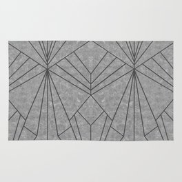 Art Deco in Black & Grey - Large Scale Rug