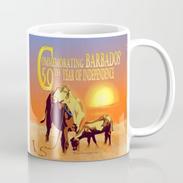 Barbados' Gold, Creatures of the Caribbean - Commemorating 50 Years of Independence Coffee Mug