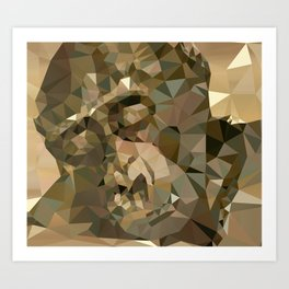 If Only - Abstract Art Low Poly Triangle Animals Art Print