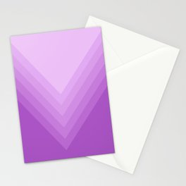 Purple Shards in Gradient Stationery Cards