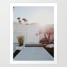 Palm Springs Sunset Art Print