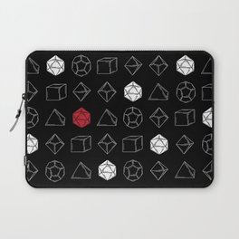 Black Dungeons and Dragons Dice Set Pattern Laptop Sleeve