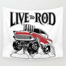 1957 CHEVY CLASSIC HOT ROD Wall Tapestry