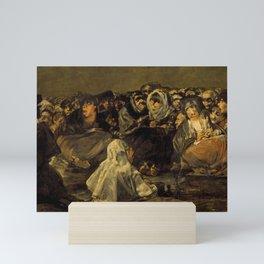 """Francisco Goya """"El Gran Cabrón o Aquelarre (The Great He-Goat or Witches Sabbath)"""" Mini Art Print"""