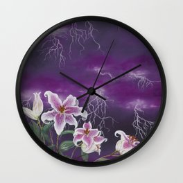 Electric Stargazers Wall Clock