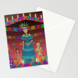 Pink Ómbre Day of the Dead Stationery Cards