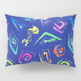 Surf Spiral Shapes in Neon Periwinkle Pillow Sham