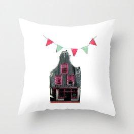 Happy Dutch house Throw Pillow