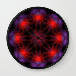 Vibrant Connections Mandala Wall Clock
