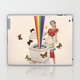 Rainbow Washing Machine Laptop & iPad Skin