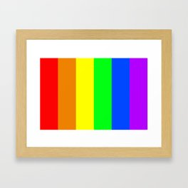 Rainbow flag - Vertical Stripes version Framed Art Print