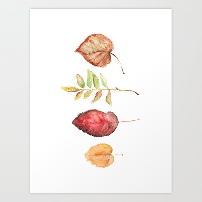 Brooklyn Leaves, Set B Art Print