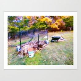 Compost in the garden Art Print