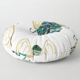 Green & Gold Cicada Floor Pillow