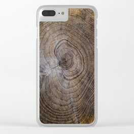 Tree Rings rustic decor Clear iPhone Case