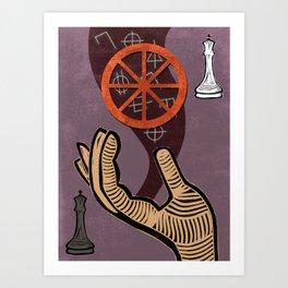 The Chariot Tarot card Art Print
