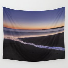 Moonlight and Venus. The river and the sea.... Bolonia beach. Tarifa. Spain Wall Tapestry