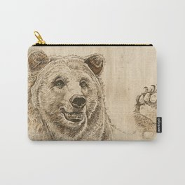 Grizzly Bear Greeting Carry-All Pouch