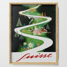 Switzerland - Vintage French Travel Poster Serving Tray
