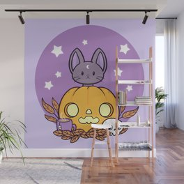 Pumpkin Cats Son Wall Mural