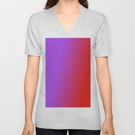 Ombre in Purple Red Unisex V-Neck