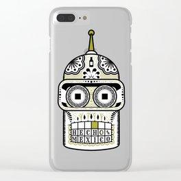 Sugar Bot Skull Clear iPhone Case