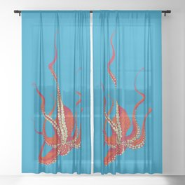 Stitches: Octopus Sheer Curtain