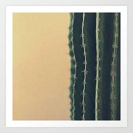 Portrait of a Cactus Art Print