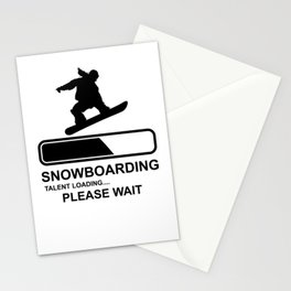 Snowboarding wintersport Stationery Cards