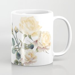 Beautiful vector realistic beige rose in vintage antique high detailed style Coffee Mug