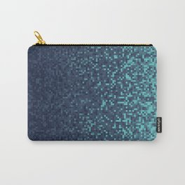 Dark Blue Pixilated Gradient Carry-All Pouch