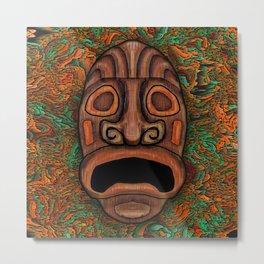 Rustic Wood Tiki Metal Print