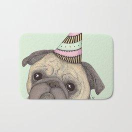 Happy B-day Pug Bath Mat