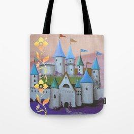 Enchanted Castle after Sunset Tote Bag