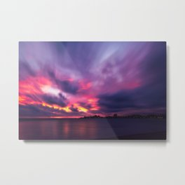 Vibrant explosion of color at Sunset at Anse Vata Bay in Noumea Metal Print