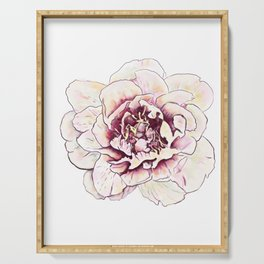 Peonies Flower Floral Wall Art Print Serving Tray