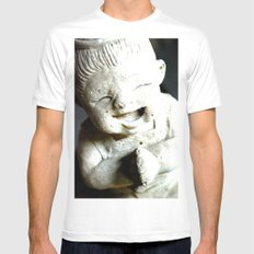 LET SMILE  MEDIUM Mens Fitted Tee White