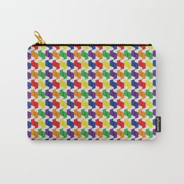 Colorful Paper Folds Small Carry-All Pouch