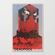 Geometric Deadpool Canvas Print
