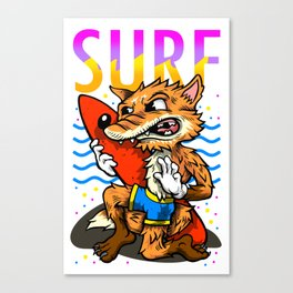 Surf fox Canvas Print