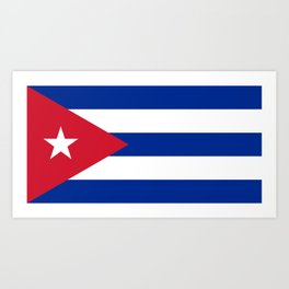 Flag of Cuba Art Print