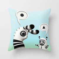 lama Throw Pillows featuring Lally Lama by Teodoru Badiu