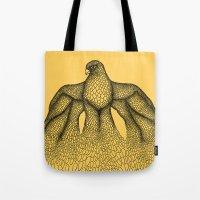 falcon Tote Bags featuring Falcon by Julia Kisselmann