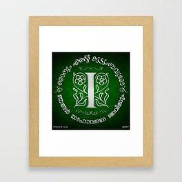 Joshua 24:15 - (Silver on Green) Monogram I Framed Art Print